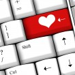 Computer keyboard with love key — Stock Photo #16227337