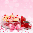 Valentine cupcake — Stock Photo #16227353