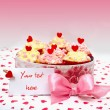 Stock Photo: Valentine cupcake