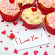 Valentine cupcake — Stock Photo #16227357