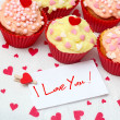 Valentine cupcake - Stock Photo