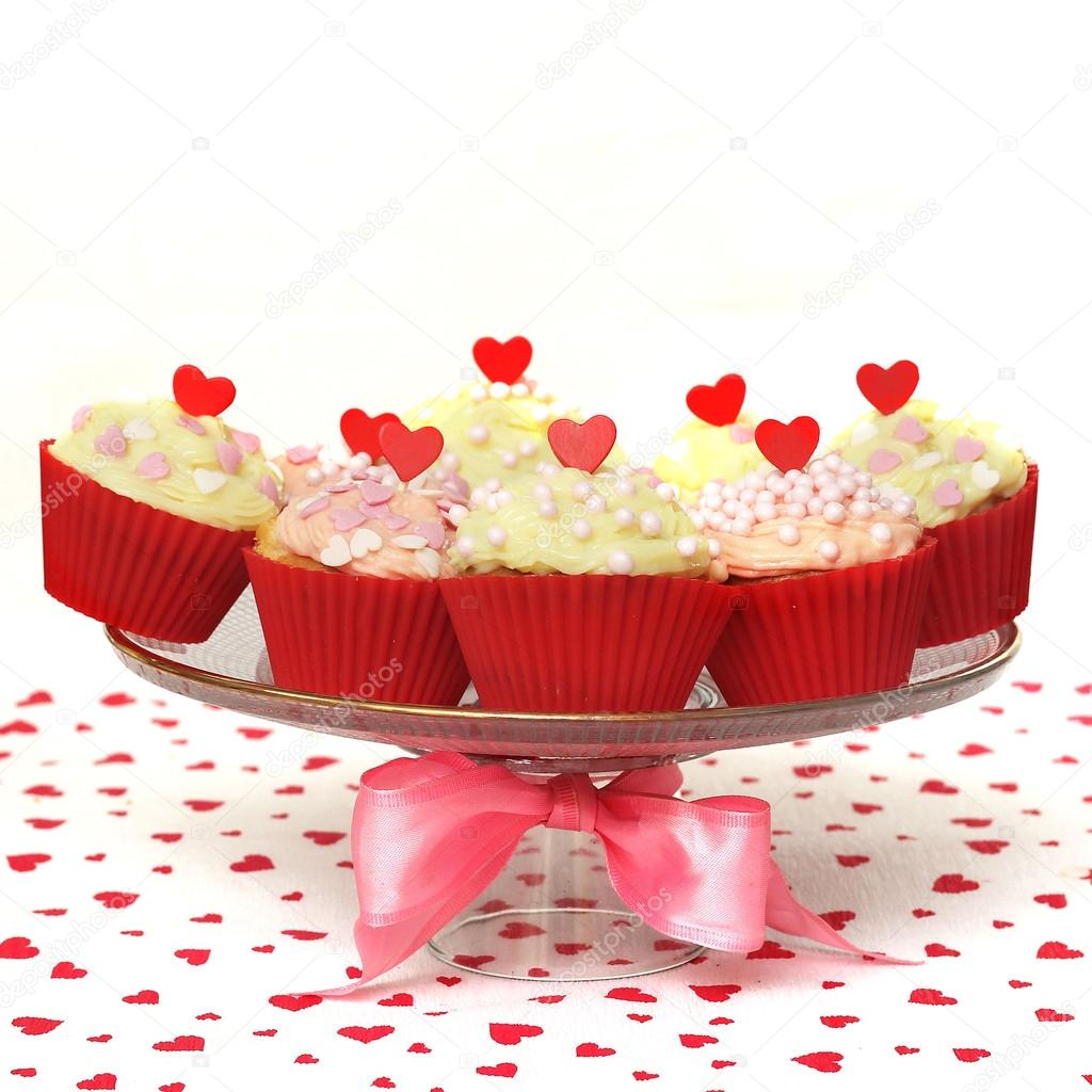 Valentine cupcake   Foto Stock #16227347