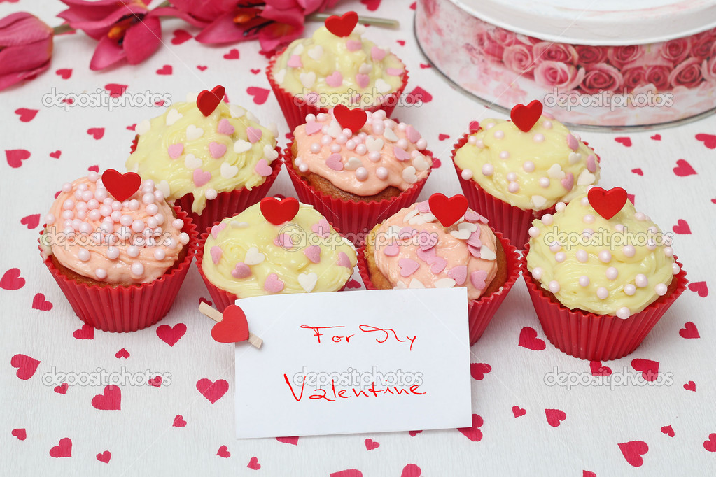 Valentine cupcake   Stock fotografie #16227349