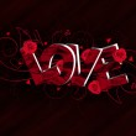 3D Love text composition — Stock Photo