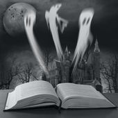 Story book with ghost stories — Stock Photo