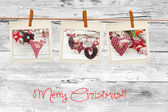Photos frames on christmas background — Stockfoto