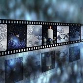 Christmas in strip film concept — Stock Photo