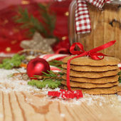 Christmas cookies with festive decoration — Stockfoto