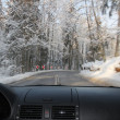 Driving in winter — Stock Photo