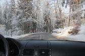 Körning i vinter — Stockfoto