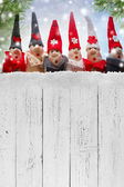 Christmas Elves decorations. Product made from salt and flour — Stock Photo