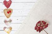Hydrangea composition in wooden background — ストック写真