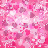 Valentine's background with hearts — Stockfoto