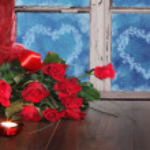Valentine background of roses — Stock Photo #38296439