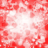 Valentine's background with hearts — Foto Stock