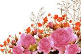 Buquê de rosas com espaço livre para texto — Foto Stock