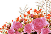 Ramo de rosas con espacio libre para el texto — Foto de Stock