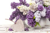 Beautiful Bunch of Lilac in the Vase — Stock Photo