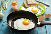 Egg for breakfast in the countryside — Stock Photo