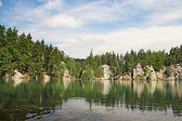 Lake in Adrspach-Teplice Rocks, Czech Republic — Stock Photo