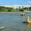 Peterhof, views of the Grand Palace from the Upper Gardens — Stock Photo #13186059