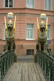 Ponte de banco em São Petersburgo — Fotografia Stock