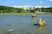 Peterhof, views of the Grand Palace from the Upper Gardens — Stock Photo
