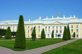 Peterhof, the Upper garden and the Grand Palace — Stock Photo