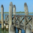 Picturesque wooden dock — Stock Photo