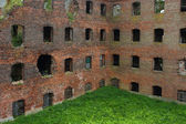 Schlisselburg, ruins of the fortress territory — Stock Photo