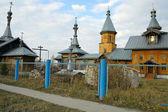 Die kirche in das sibirische dorf — Stockfoto