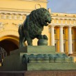 Stock Photo: Saint-Petersburg, figure of watchdog lion