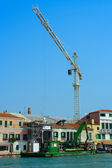 Venice, the construction of the house — Stock Photo