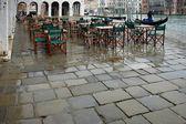 Venice, rain on the area's Fish market — Stockfoto