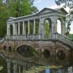 Tsarskoe Selo, Marble bridge — Stock Photo