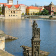 Prague,  statue of knight Brunswick — Stock Photo