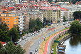 Prague, Podolsk embankment — Stock Photo
