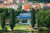 Prague, rise of smichov harbour — Stock Photo