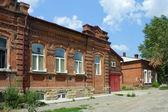 Tomsk, old brick house — Stock Photo