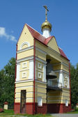 Tomsk, the belfry of the Church of the resurrection — Zdjęcie stockowe