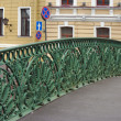 Grate on Pevchesky bridge in St. Petersburg — ストック写真