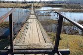 The suspended pedestrian bridge — Stockfoto