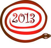 Yıl 2013 yılan. çince zodyak sembolü. — Stok Vektör