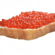 Red caviar with bread and butter — Stock Photo #31428523