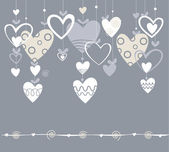 Background with hearts — Vettoriale Stock