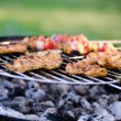 Chicken on grill — Stock Photo