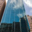 Skyscraper reflection — Stock Photo