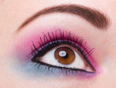 Fashion makeup of a female eye — Stockfoto