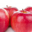Red apples closeup — Stock Photo #21244269