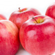 Red apples closeup — Stock Photo #21244377